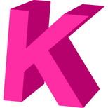 Cartoline musicali con nome d'amore: Lettera K