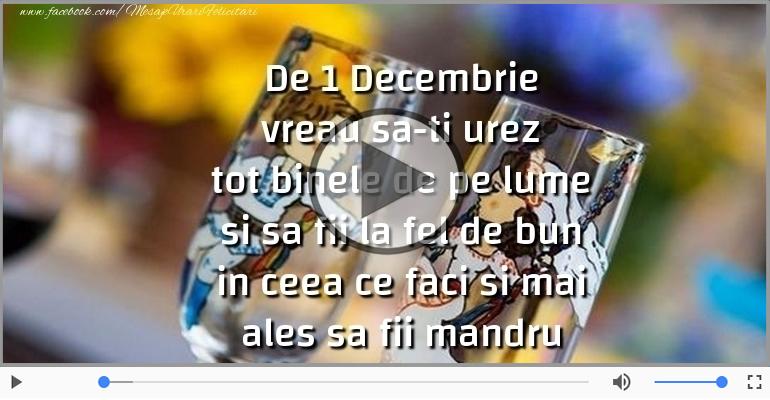 Felicitari muzicale de 1 Decembrie - La multi ani, Romania!