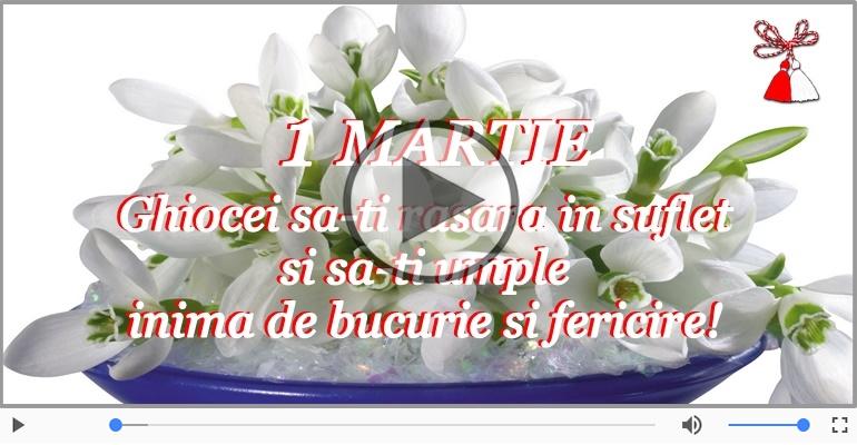 Felicitari muzicale de 1 Martie - 1 Martie Fericit!