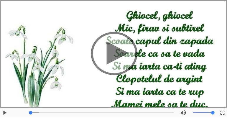 Felicitari muzicale de 1 Martie - Pentru mama: 1 Martie Fericit!