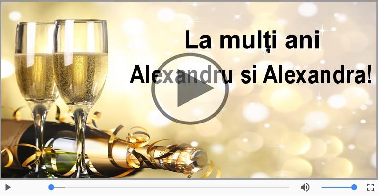 Felicitari muzicale de Sfântul Alexandru - De Sfantul Alexandru, La multi ani sarbatoritilor!