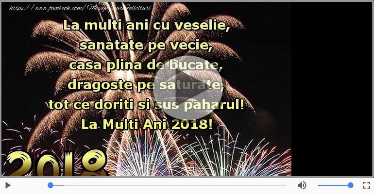 Felicitari muzicale de Anul Nou - La Multi Ani 2018!