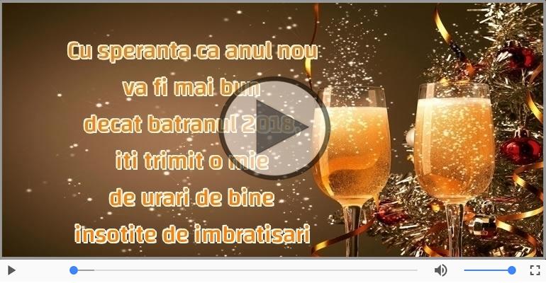 Felicitari muzicale de Anul Nou - Iti urez un AN NOU FERICIT