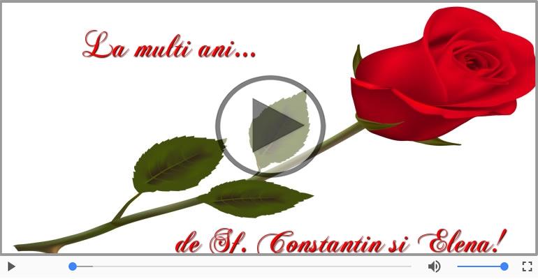 Felicitari muzicale de Sfintii Constantin si Elena - Felicitare muzicala de Sfintii Constantin si Elena