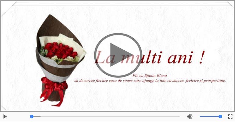 Felicitari muzicale de Sfintii Constantin si Elena - La multi ani cu sanatate de Sfintii Constantin si Elena!