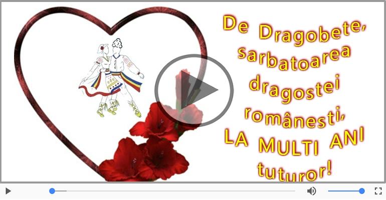 Felicitari muzicale de Dragobete - O frumoasa felicitare de Dragobete pentru toate toti indragostitii