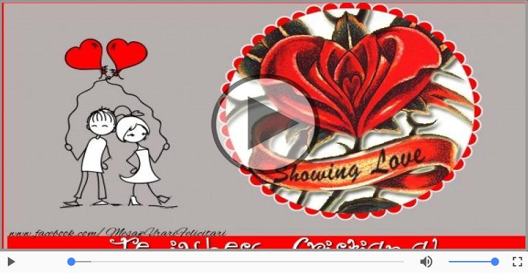 Felicitari muzicale de dragoste - Cu dragoste pentru Cristiana