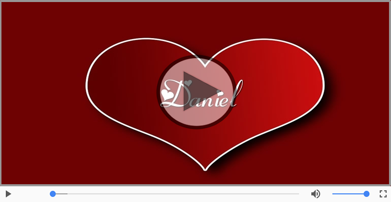 Felicitari muzicale de dragoste - Cu dragoste pentru Daniel