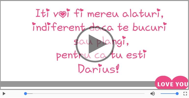 Felicitari muzicale de dragoste - Te iubesc, Darius!