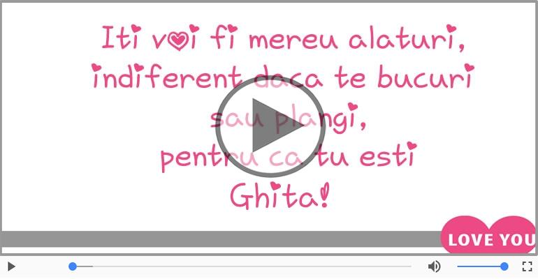 Felicitari muzicale de dragoste - I love you Ghita! - Felicitare muzicala