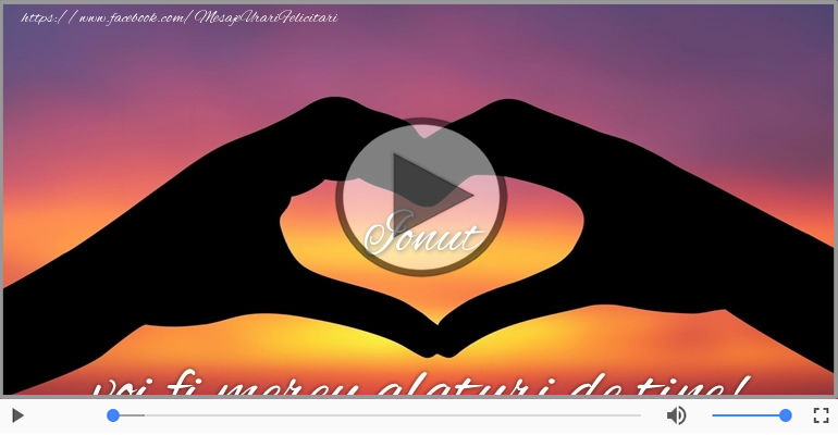 Felicitari muzicale de dragoste - Te iubesc, Ionut!