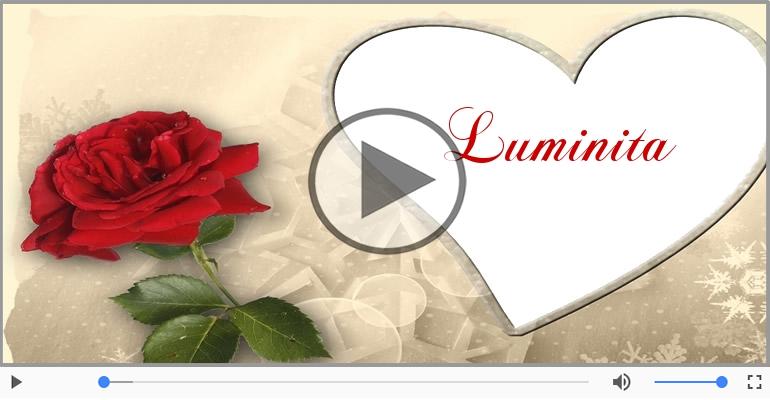 Felicitari muzicale de dragoste - Te iubesc, Luminita!