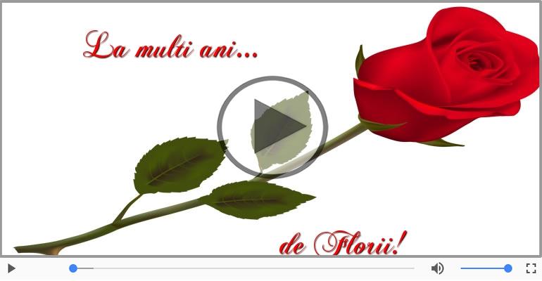 Felicitari muzicale de Florii - Felicitare muzicala pentru toti cei care poarta nume de flori