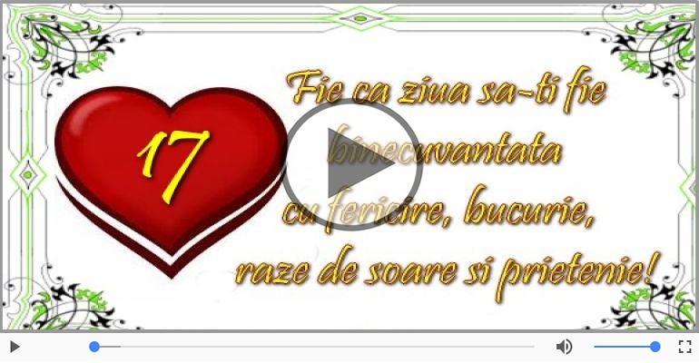 Felicitari muzicale Pentru 17 ani - Cine-i Nascut In Ianuarie...Decembrie, La multi ani, 17 ani!