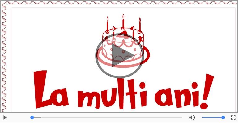 Felicitari muzicale Pentru 4 ani - Cine-i Nascut In Ianuarie...Decembrie, La multi ani, 4 ani!