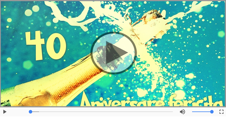 Felicitari muzicale Pentru 40 ani - Cine-i Nascut In Ianuarie...Decembrie, La multi ani, 40 ani!