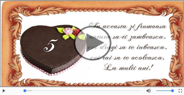 Felicitari muzicale Pentru 5 ani - Cine-i Nascut In Ianuarie...Decembrie, La multi ani, 5 ani!