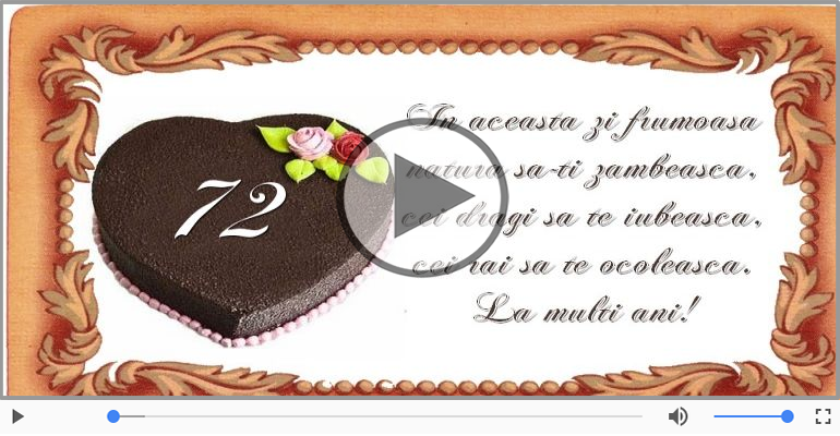 Felicitari muzicale Pentru 72 ani - Cine-i Nascut In Ianuarie...Decembrie, La multi ani, 72 ani!