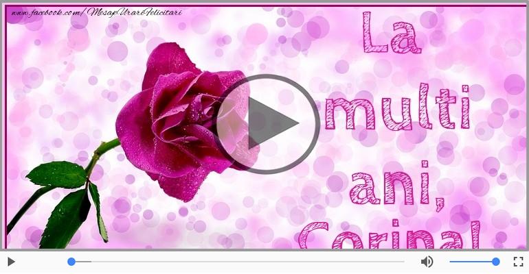 Felicitari muzicale de la multi ani - La multi ani, Corina!