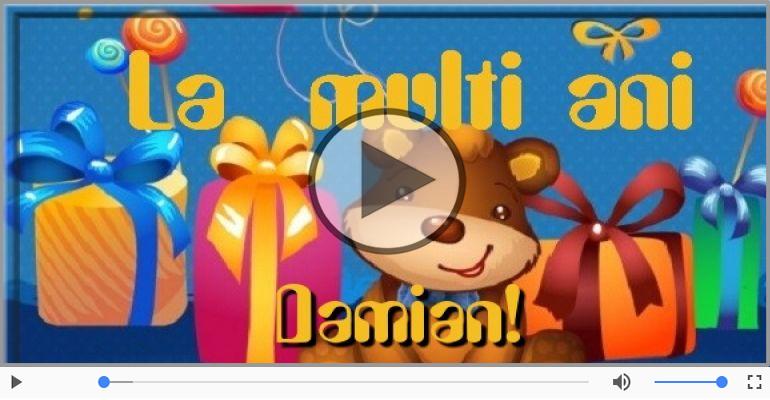 Felicitari muzicale de la multi ani - Damian, La Multi Ani!
