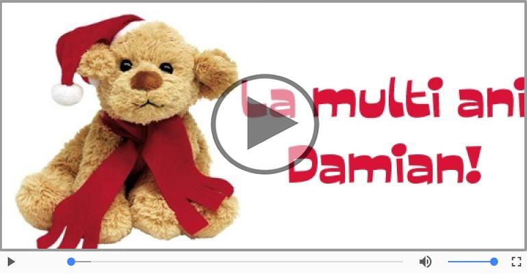 Felicitari muzicale de la multi ani - Felicitare muzicala de la multi ani pentru Damian!