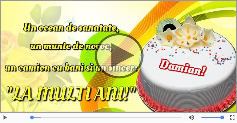 Felicitari muzicale de la multi ani - Felicitare muzicala - Happy Birthday Damian!