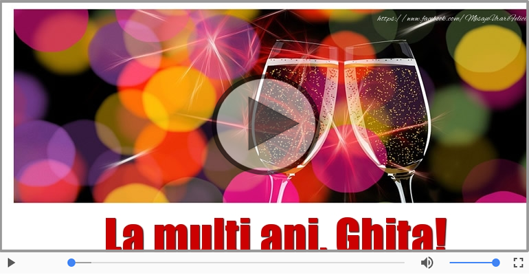 Felicitare muzicala - Happy Birthday Ghita!