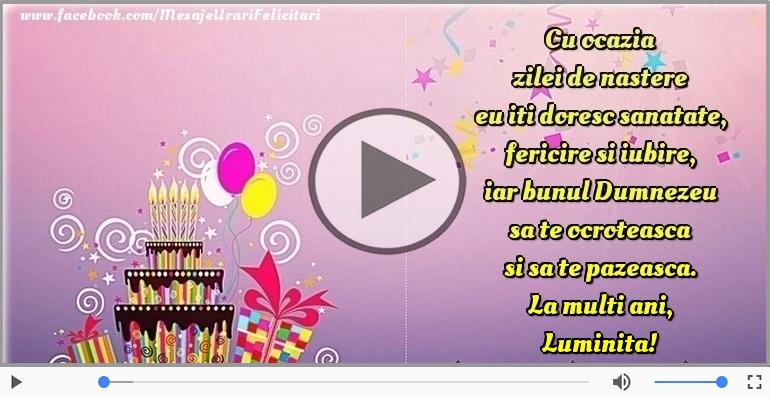 Felicitari muzicale de la multi ani - La multi ani, Luminita!