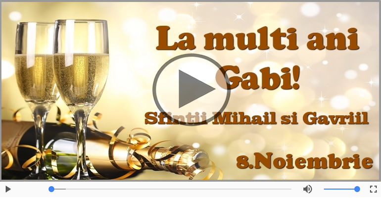 Felicitari muzicale de Sfintii Mihail si Gavriil - Felicitare muzicala si animata de Sfintii Mihail si Gavriil