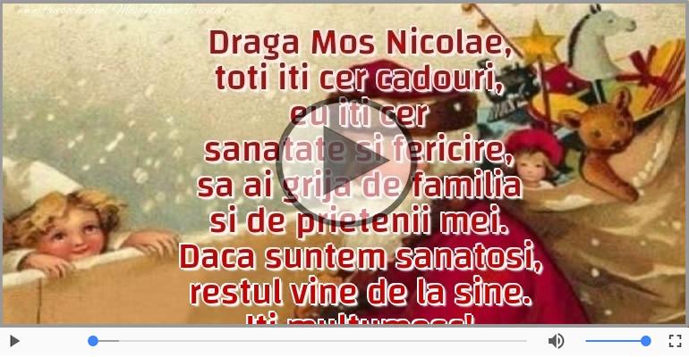 Felicitari muzicale de Sfantul Nicolae - Scrisoare pentru Mos Nicolae