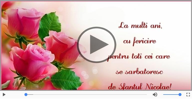 Felicitari muzicale de Sfantul Nicolae - La multi ani