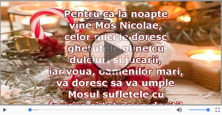 Felicitari muzicale de Sfantul Nicolae - Urare de Moș Nicolae
