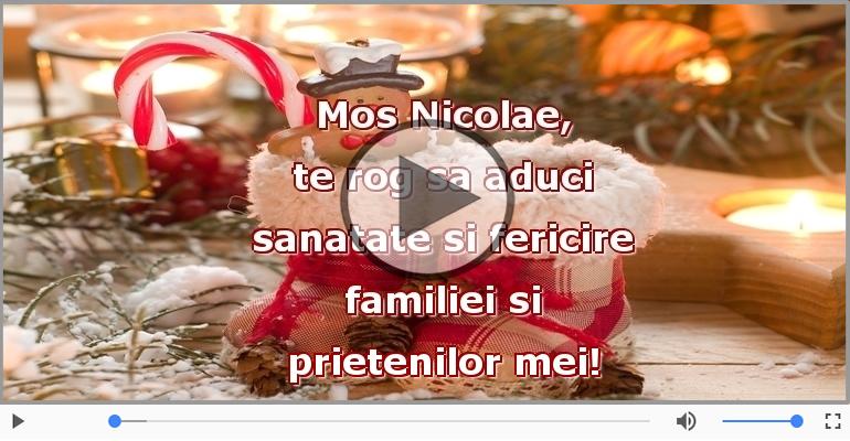 Felicitari muzicale de Sfantul Nicolae - Mos Nicolae