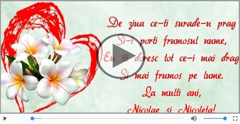 Felicitari muzicale de Sfantul Nicolae - La multi ani, Nicolae si Nicoleta!