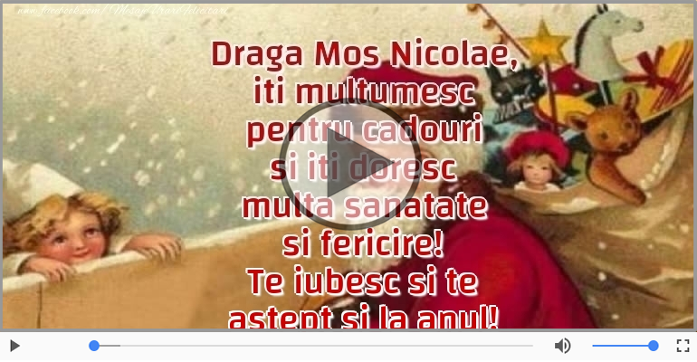 Felicitari muzicale de Sfantul Nicolae - Multumesc, Mos Nicolae!