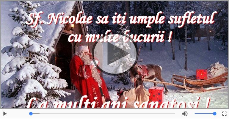 Felicitari muzicale de Sfantul Nicolae - La multi ani cu sanatate de Mos Nicolae!