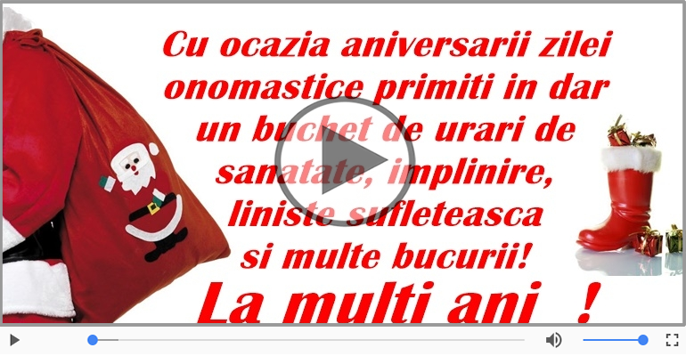 Felicitari muzicale de Sfantul Nicolae - Felicitare muzicala si animata de Mos Nicolae
