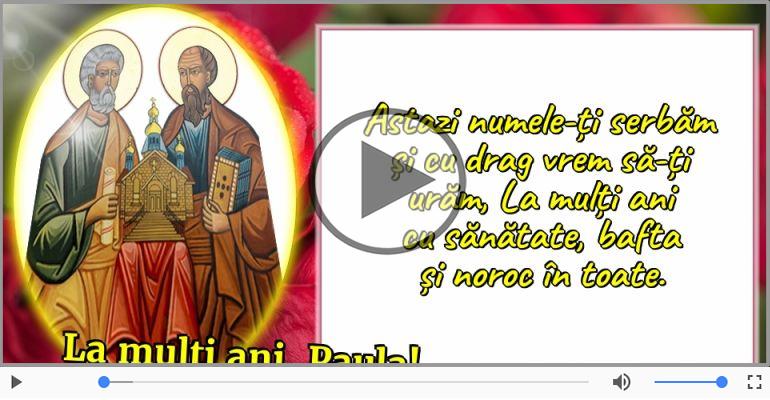 Felicitari muzicale de Sfintii Petru si Pavel - La multi ani, cu ocazia zilei