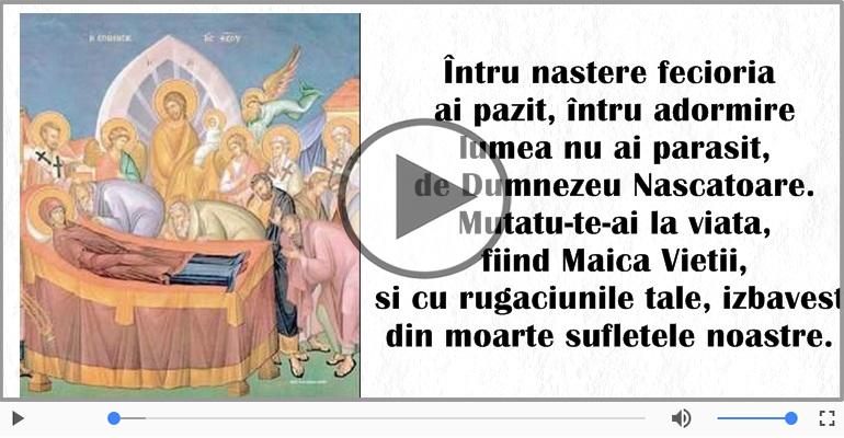 Felicitari muzicale de Sfanta Maria - Felicitare muzicala de Sfanta Maria!