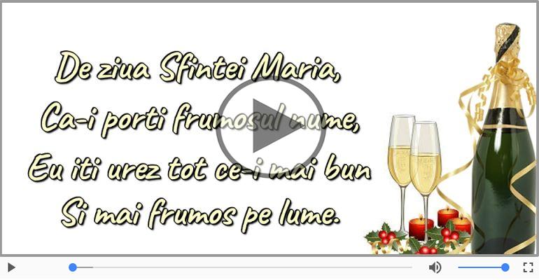 Felicitari muzicale de Sfânta Maria Mica - La multi ani, Maria!