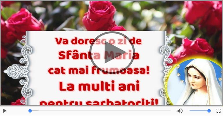 Felicitari muzicale de Sfânta Maria Mica - Felicitare muzica de Sfanta Maria!