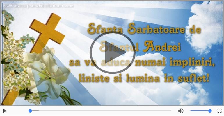 Felicitari muzicale de Sfantul Andrei - Felicitare muzica de Sfantul Andrei!
