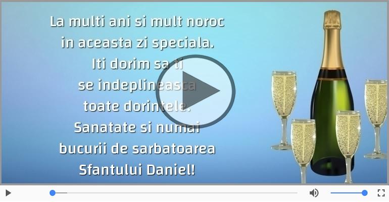 Felicitari muzicale de Sfantul Daniel - La multi ani de sarbatoarea Sfantului Daniel!