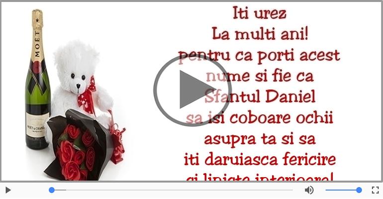 Felicitari muzicale de Sfantul Daniel - Iti urez La multi ani! de Sfantul Daniel