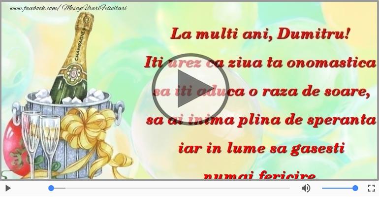Felicitari muzicale de Sfantul Dumitru - La multi ani, Dumitru!