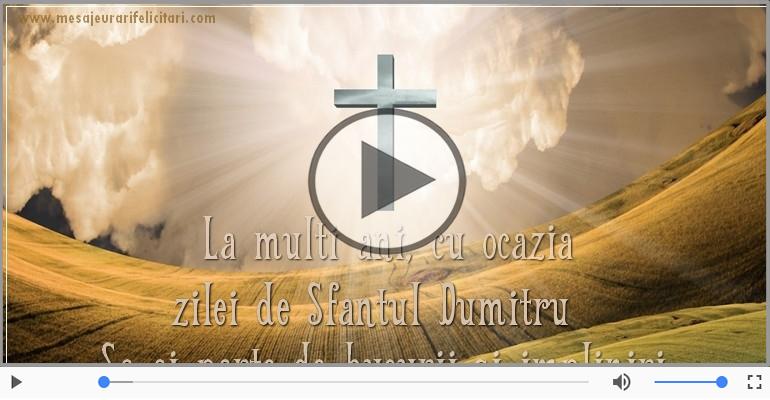 Felicitari muzicale de Sfantul Dumitru - Felicitare muzicala si animata de Sfantul Dumitru