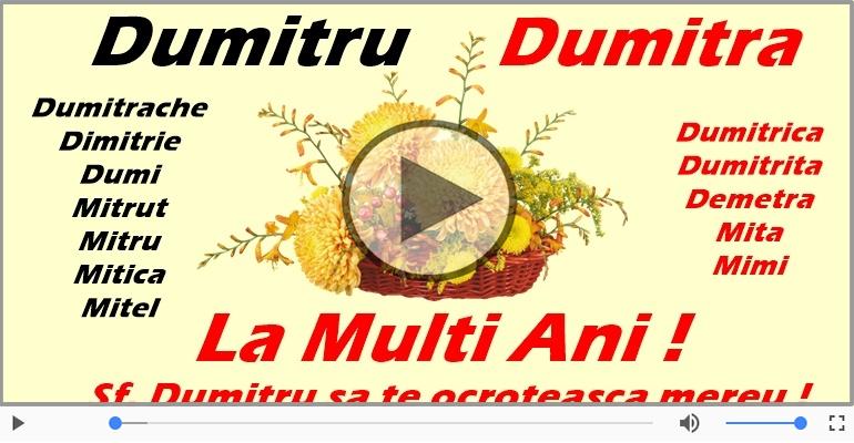 Felicitari muzicale de Sfantul Dumitru - Felicitare muzicala cu mesaje de Sfantul Dumitru