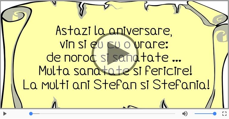 Felicitari muzicale de Sfantul Stefan - La multi ani cu sanatate de Sfantul Stefan!