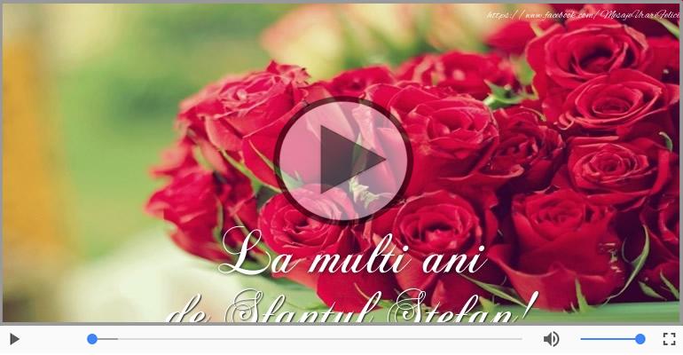 Felicitari muzicale de Sfantul Stefan - Felicitare muzicala si animata de Sfantul Stefan