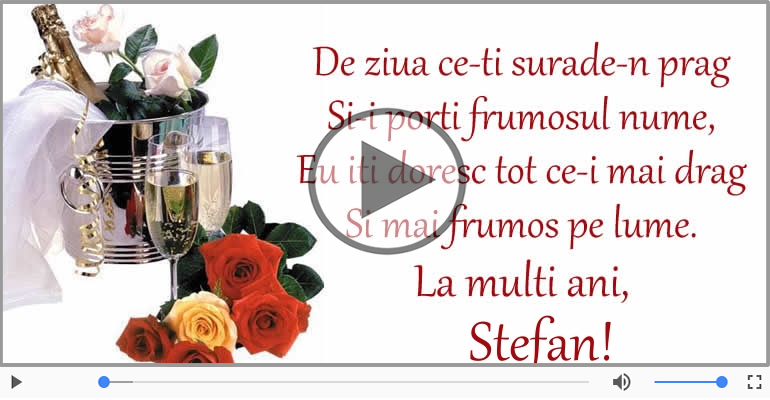 Felicitari muzicale de Sfantul Stefan - Felicitare muzicala de Sfantul Stefan!